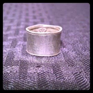 Silpada Hammered Cuff Ring